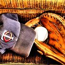 Ball Cap and Glove by Jimmy Ostgard