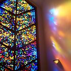 The Healing Window Stained glass window to Heaven by Rick Short