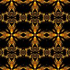 Mandi-series No.III - Spiral Wall Paper in Gold by viennablue