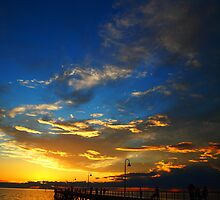 The Blue Sunset - Glenelg, Adelaide by rebecca brace