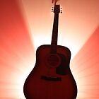 Guitar silhouette by Darsha Gillmore