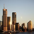 Brisbane City Dawn by Darsha Gillmore