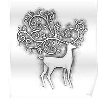 Decorative deer Poster