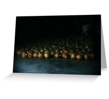 a flood of onions  Greeting Card