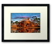 Reflections Of Ruin Framed Print