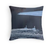 Snow Geese in B&W Throw Pillow
