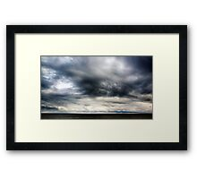 Berwick Upon Tweed Stormy Sky Seascape Framed Print