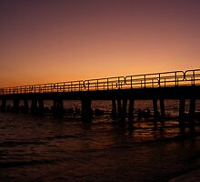 Pier at Sunset by Ms.Serena Boedewig