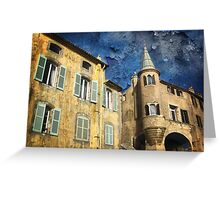 Ancient District of Saint-Paul in Hyères (French Riviera) Greeting Card