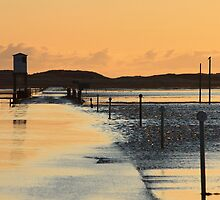 The Flooding Causeway of Lindisfarne - Northumberland by Kat Simmons