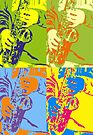 Four Saxes by AuntDot