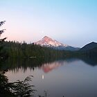 Early moonrise over Mt. Hood by Jennifer Hulbert-Hortman