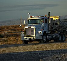 Big gravel truck moving by happyphotos