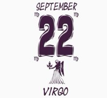 Virgo September 22 Birthday 3D Effect T Shirt by kmercury