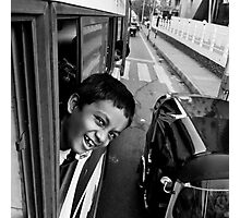 Bhatismile after 12h of bus Photographic Print