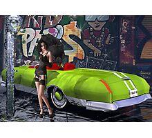 Melbourne Grafitti & Kanaa Mucle Car - modeled Photographic Print
