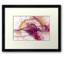 Abstract in Purple, Pink and Yellow Framed Print