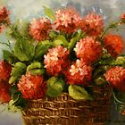 Basket of Geraniums by Cathy Amendola