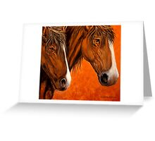 Fresh Water For My Horses Greeting Card