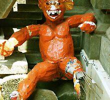 Orange Balinese Demon  by Michael Brewer