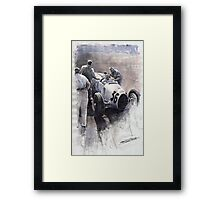 Auto Union B type 1935 Italian GP Monza B Rosermeyer Framed Print