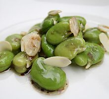 Broad beans for dinner by Antony Perring