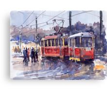 Prague Old Tram 01 Canvas Print