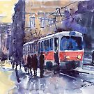 Prague Tram 02 by Yuriy Shevchuk