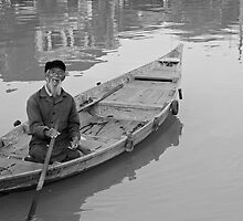 Lone Boatman - Hoi An, Vietnam  by Odalisque
