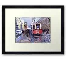 Prague Old Tram 03 Framed Print