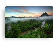 Sunrise at Rainforest-South Borneo Canvas Print