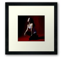Red with light Framed Print
