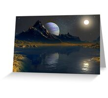 Worlds of the Blue Giant Greeting Card