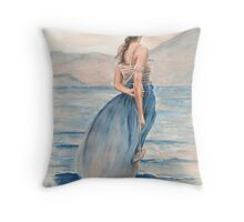 """Evening Light"" Water Colour Painting. Throw Pillow"