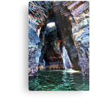 Beneath the Nine Daughters Hole - Ballybunion Metal Print