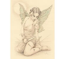 """Fairy Warrior"" Colour Pencil Artwork Photographic Print"