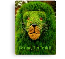 Kiss Me, I'm Irish !!! Canvas Print