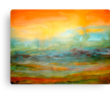 Landscape Abstract...Mist in the Valley Canvas Print