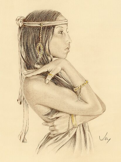 """Tanisha"" Colour Pencil Artwork by John D Moulton"