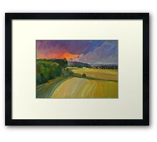 The sunset after rain Framed Print
