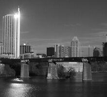 Austin Skyline - 2009  by Roschetzky