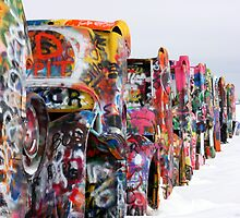 Cadillac Ranch, Amarillo  TX by patticooke