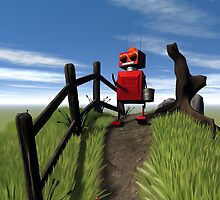 Little Red Robot by mdkgraphics