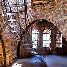 Bishop's Castle Staircase by Linda Eshom