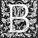 "Art Nouveau ""B"" (William Morris Inspired) by Donna Huntriss"