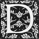 "Art Nouveau ""D"" (W Morris inspired) Ebay listed by Donnahuntriss"