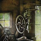 Machine Shop - An old drill press by Mike  Savad
