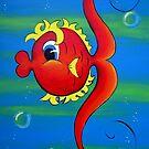 """""""Fishy"""" Kids Art Series by Taniakay"""