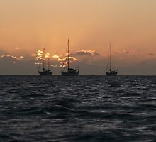 Sailing Boats at Sunset - Robinson Crusoe Island by bec87