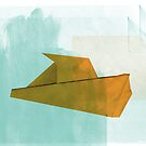 boat on paper sea by cmariani